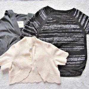 Lot of 3 sweaters sz M MOTH Hollister Ana wool top